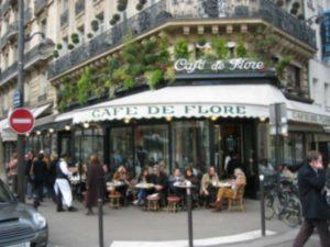 La vie en rose Cafe de Flore Public Domain /wikimedia