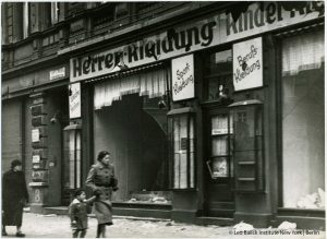 A Jewish-owned clothing shop in Magdeburg, destroyed during the pogrom night of November 9-10, 1938 Leo Baeck Institute New York | Berlin