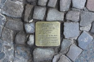 Stolpersteine (stumbling blocks) on German streets commemorate the victims of Nazi persecution (JVG)