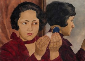 Russian Girl with Compact (1928)   VG Bild-Kunst, Bonn 2018 / Photo: Städel Museum